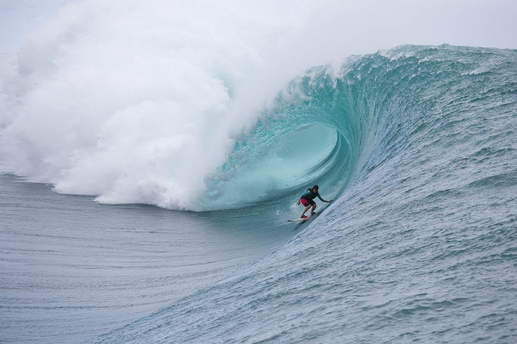The last time Keala Kennelly surfed Teahupoo she left with 40 stitches in her face. But we all know itll take more than that to deter her. Photo: Pompermayer