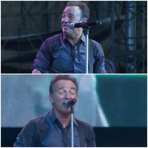 """crazyjaneyy:  """" Bruce performs You never can tell . Leipzig , Red Bull Arena 2013 . 💜  """""""