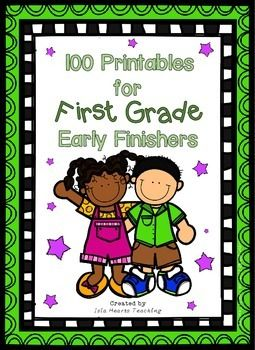 Early Finisher MEGA PACK (100 Printables for First Grade E