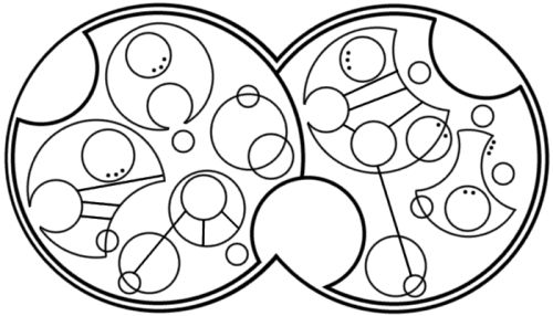 """I am the Bad Wolf. I create myself"" written in circular Gallifreyan requested by anon"