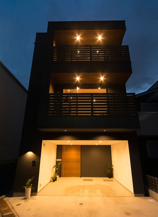 E-shaped exterior house / floor (Oita city Oita city) | Narrow housing · compact house | For custom houses Architects design office Freedom architects design