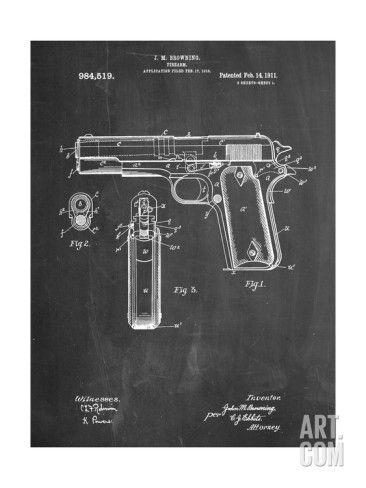 Plan d'un Colt 45