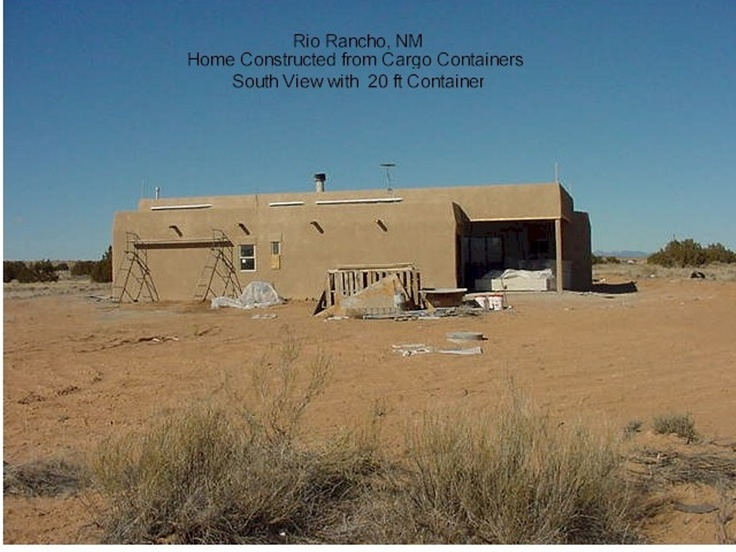 Southwestern Home made out of a cargo shipping container in Rio Rancho, NM