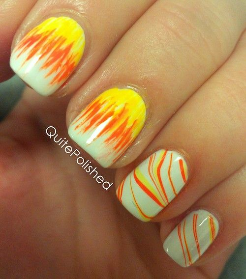 Abstract candy corn