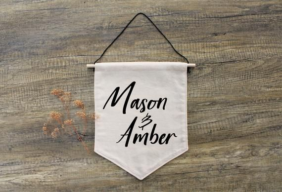 Customizable Banners With Two Names Of Your Choice Perfect For Weddings This Banner Is 10x13 Inches In Size A Name Banners Couple Gifts Personalized Banners