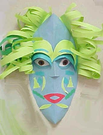 Art Lesson Plan: Paper Masks - links to great African mask site