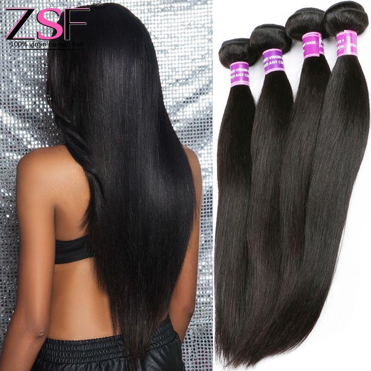 ZSF Hair Company Indian Virgin Hair Straight 3 Bundles 8A Grade Virgin Unprocessed Human Hair 10-30 Inch Straight Virgin Hair