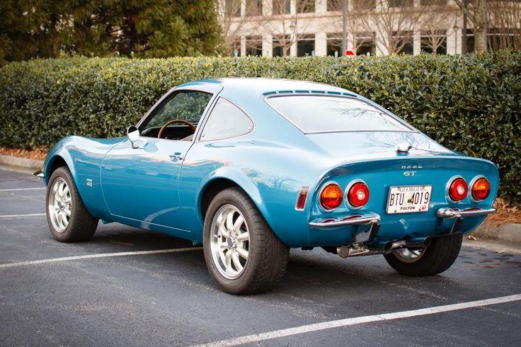 1973 Blue Opel GT rear/side pic