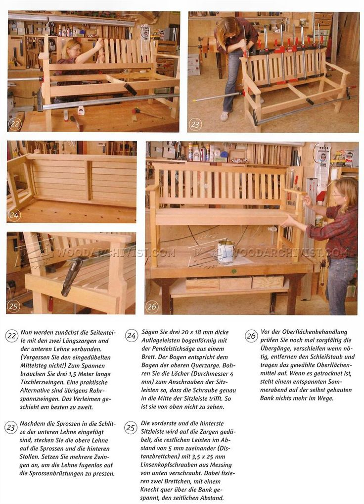 1904 Outdoor Wood Bench Plans Outdoor Furniture Plans