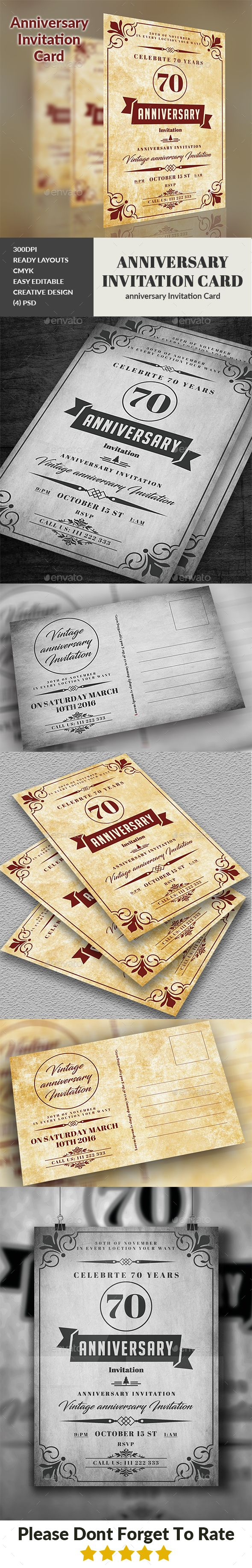 Anniversary Invitation Card 144 best Invitation Card
