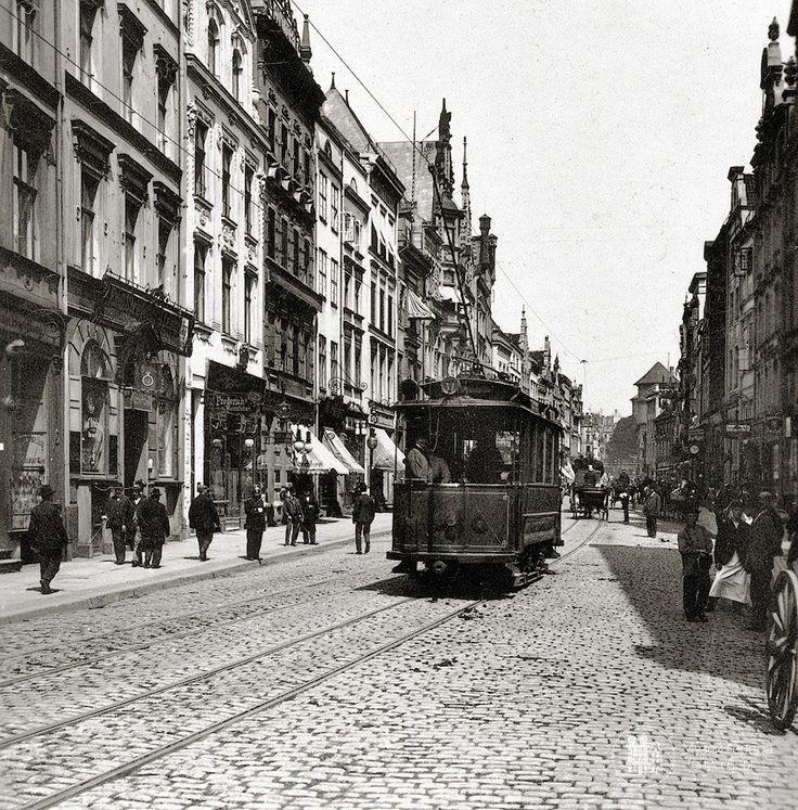 Кёнигсберг. Трамвай на Кнайпхофской длинной. Фото ок. 1906 года.