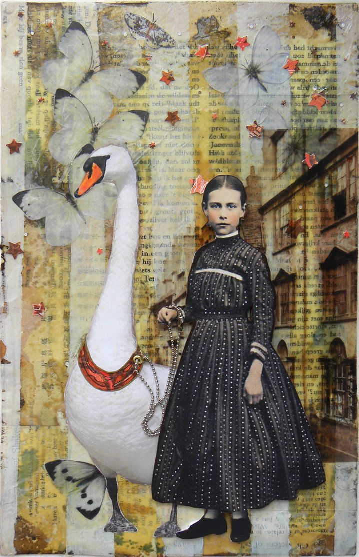⌼ Artistic Assemblages ⌼ Mixed Media & Collage Art - Out for a walk by *hogret on deviantART