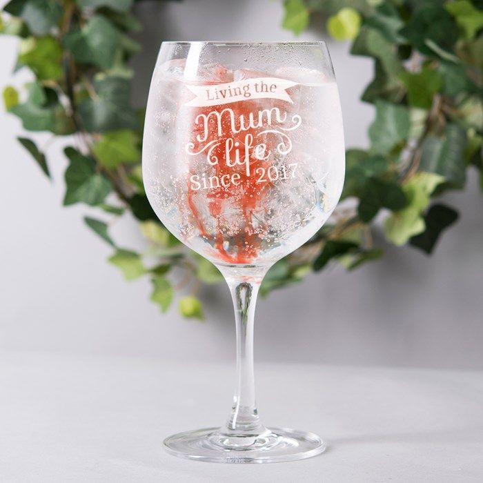 Personalised Can/'t Buy Happiness...Gin Balloon Glass Birthday Mothers Day Gift