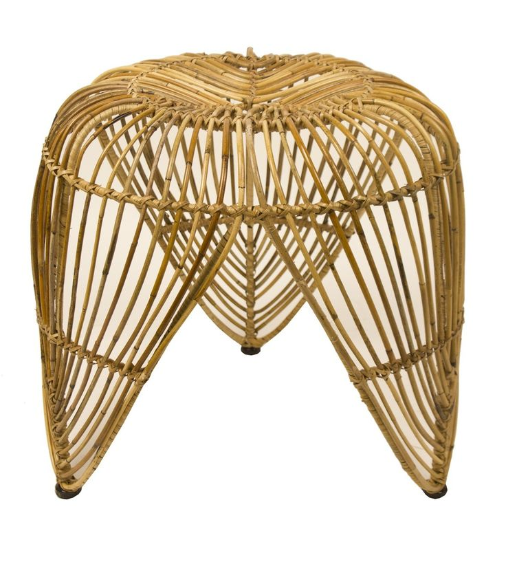 The authentic appeal of natural materials such as rattan creates furniture that is airy and light - the perfect look for a relaxed decor with a Summery emphasis. The Leaf Stool has a decorative organic shape to complement an earthy scheme.