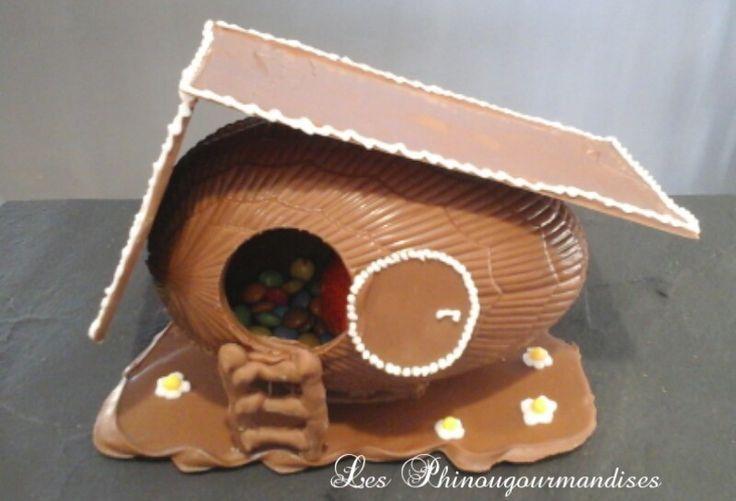 Tuto poulailler en chocolat pour Pâques