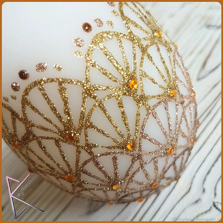 Купить Пасхальное яйцо (светящееся) - Пасха, подарок, яйцо, сувенир, золотой, подарок на Пасху, православный