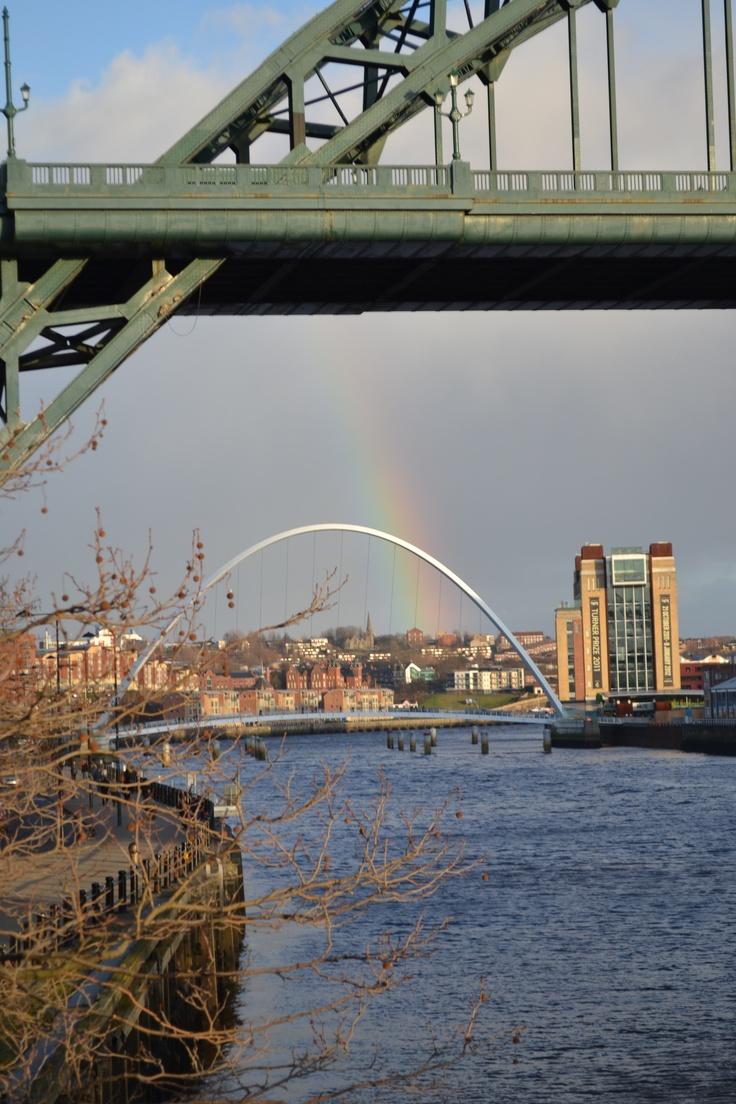 Rainbow & Bridges at Newcastle upon Tyne