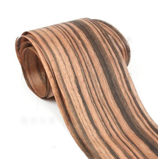 Длина: 2.5 М/Roll Толщина: 0.2 мм Ширина: 15 см Натурального Шпона Черного Дерева Ручной Прикреплены Кожа твердой Древесины Декоративные Панели