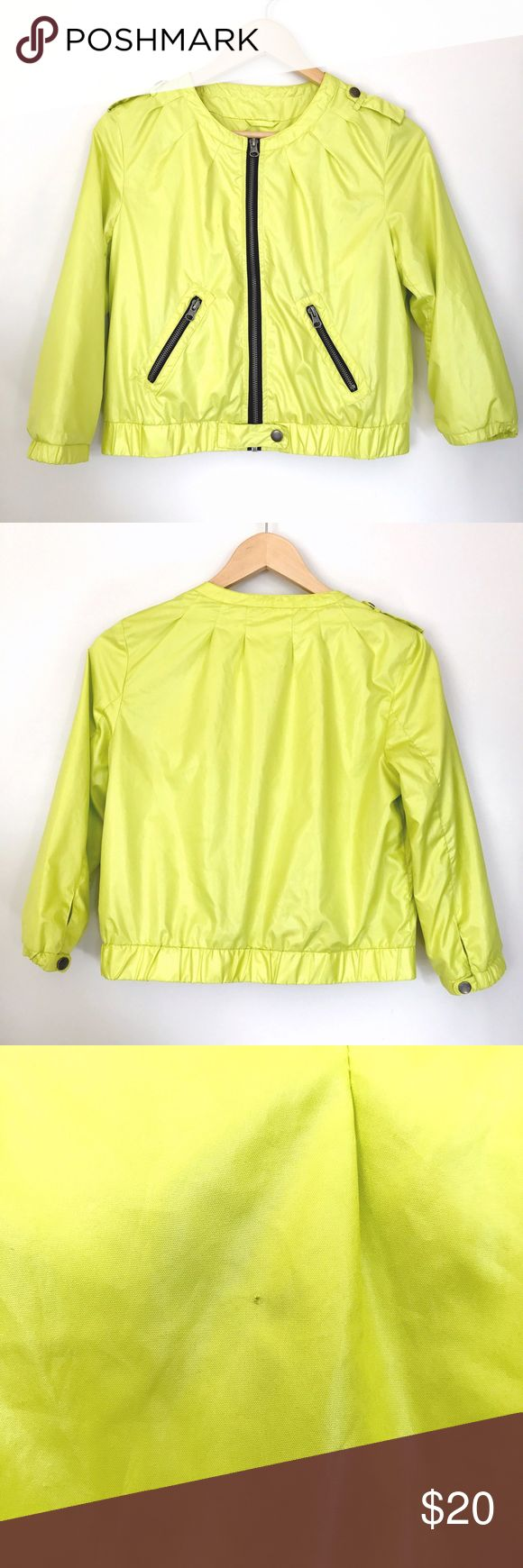 """XXI thin yellow zip up jacket XXI thin yellow zip up jacket   Material (shell & lining) 100% Polyester   Measurements Bust: 18"""" Waist: 16"""" Length: 19""""  Offers welcome! XXI Jackets & Coats"""