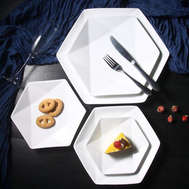1 ШТ. Творческий Пластина Белая Керамическая Посуда Стейк Блюдо Фрукты Десертная Тарелка западная Еда Стейк Плиты