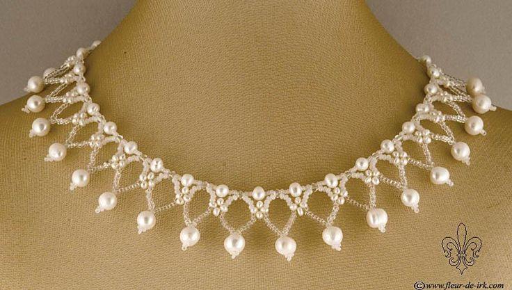 Snow lace collar N1186 by Fleur-de-Irk.deviantart.com on @deviantART