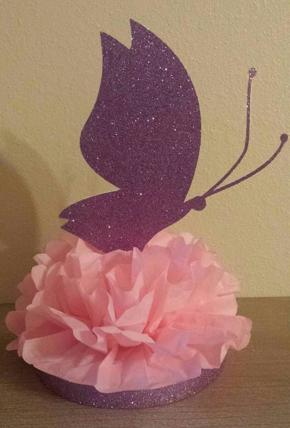 Glitter Butterfly Baby Shower Or Birthday Party Centerpiece Table Decor You Choose Colors Butterfly Baby Shower Butterfly Baby Shower Theme Birthday Party Centerpieces