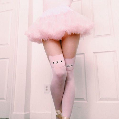 Alpaca Tights in pink