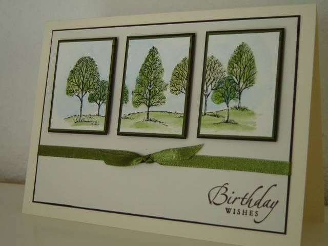 Tri-Panel SU Lovely As A Tree card - masculine - bjl