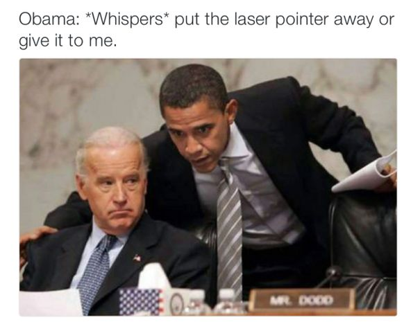 """Reining in Biden"" | Vice President Joe Biden is often depicted as getting scolded by Obama in memes | CREDIT: Via Twitter - Hilarious Obama Memes"
