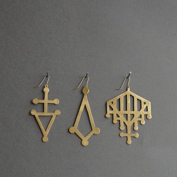 jessie harris brass earrings