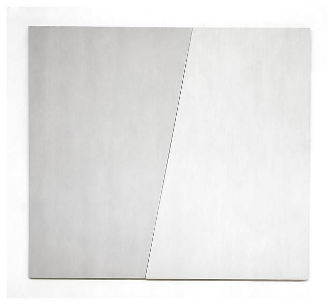 Ellsworth Kelly  Two Grays I, 1975  Oil on canvas, two joined panels  92 x 102 inches
