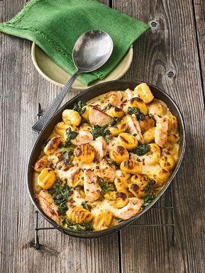 Gnocchi – Spinat – Auflauf mit Huhn und Curry, ein raffiniertes Rezept aus …   – rezepte