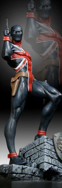 Union Jack  Polystone Statue