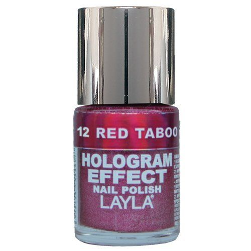 Layla Hologram Effect Nail Polish, Red Taboo, 1.9 Ounce