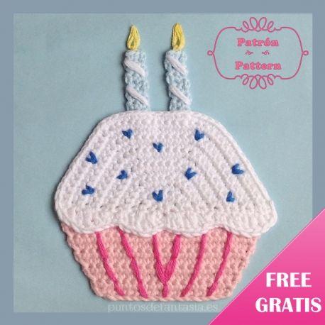 Patrón Cupcake de Cumpleaños