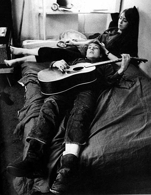 Bob Dylan & Joan Baez  (This will be me and Andrew on Saturdays.)  :)  <3