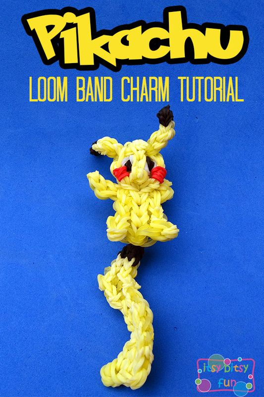 Pokemon Rainbow Loom Charm Pikachu Tutorial