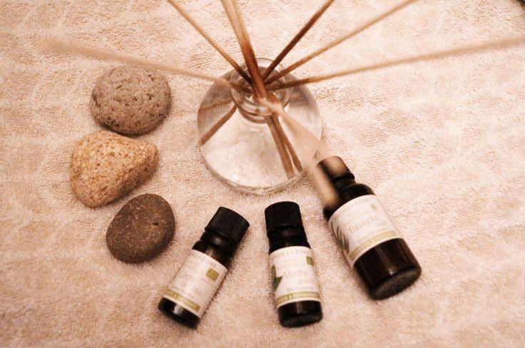 Parfum d'ambiance assainissant aux huiles essentielles d'eucalyptus, menthe poivrée et cèdre de l'atlas