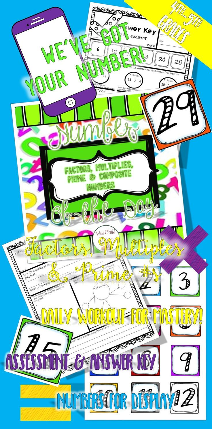 Workbooks prime and composite numbers worksheets 5th grade : Best 25+ Math for 4th graders ideas on Pinterest | Math for grade ...