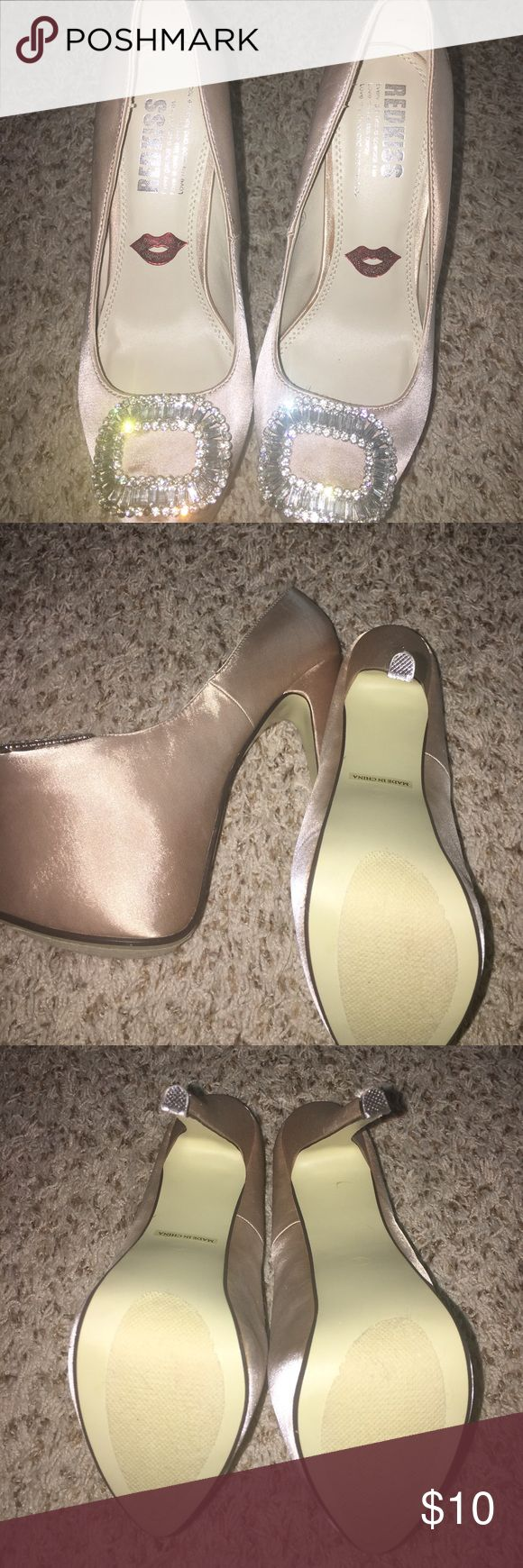 Red Kiss Cream Pumps 🔺BRAND NEW & NEVER WORN! Size 8. NO BOX & NOT interested in any trades. red kiss Shoes Heels