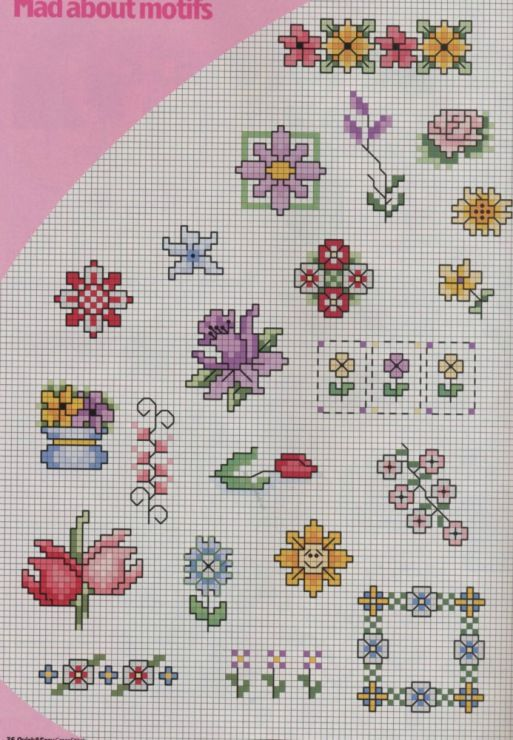 several pages of little flower motifs, plus lots more large flower designs