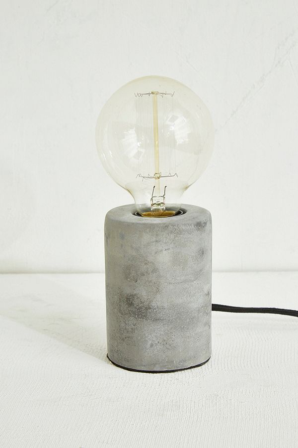 Slide View: 2: Round cement table lamp – Home & Studio
