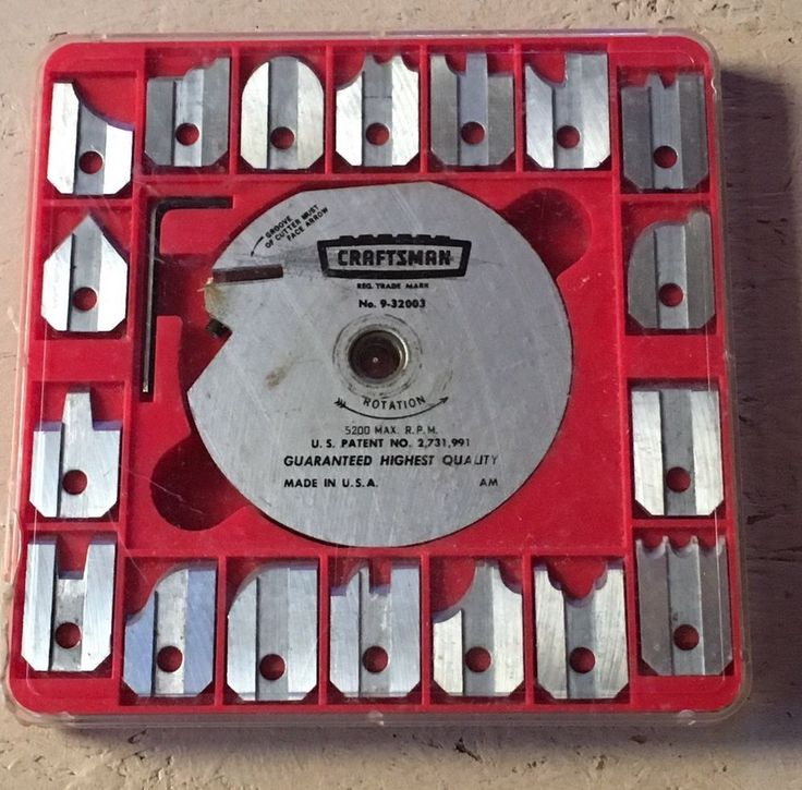 Sears Craftsman 9-32003 Molding Head Cutter Set 18 Blades In Nice Used Shape  | eBay