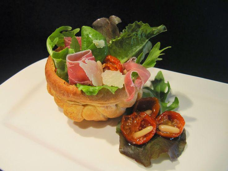 Anversoise: Petit panier avec sa salade printanière