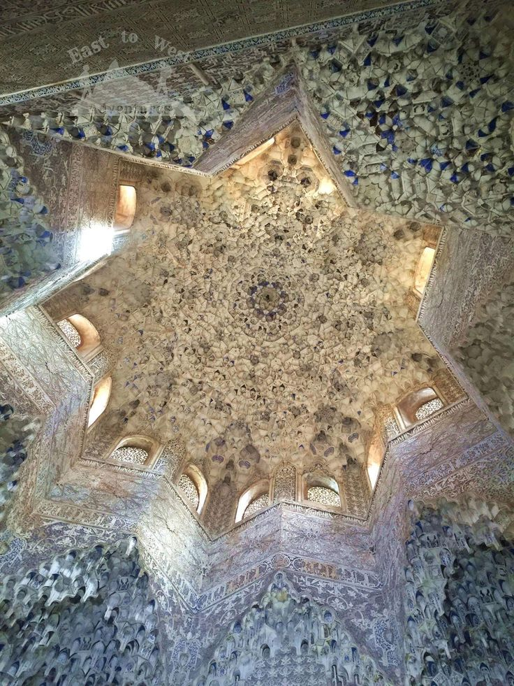 Looking up in the Alhambra #easttowestadventures #starlight #roof #shininglight #alhambra #granada #andalucia #amazing #architecture #details #lookup #shiningbright #starsindoors  #مغامرات #غرناطة #قصرالحمراء #الاندلس #سفر #سافر #اسبانيا #اوروبا