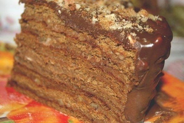 Фото к рецепту: Шоколадный торт Вкус детства.