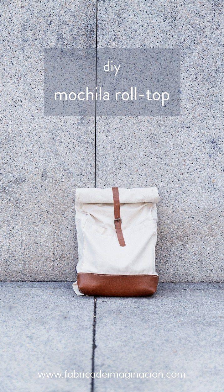diy hazlo tu misma mochila roll top                                                                                                                                                                                 Más