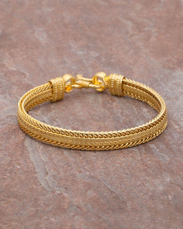 ded6c3b1bae2d Men's Bracelet with Yellow Gold Plating in 2019 | jwells | Gold ...