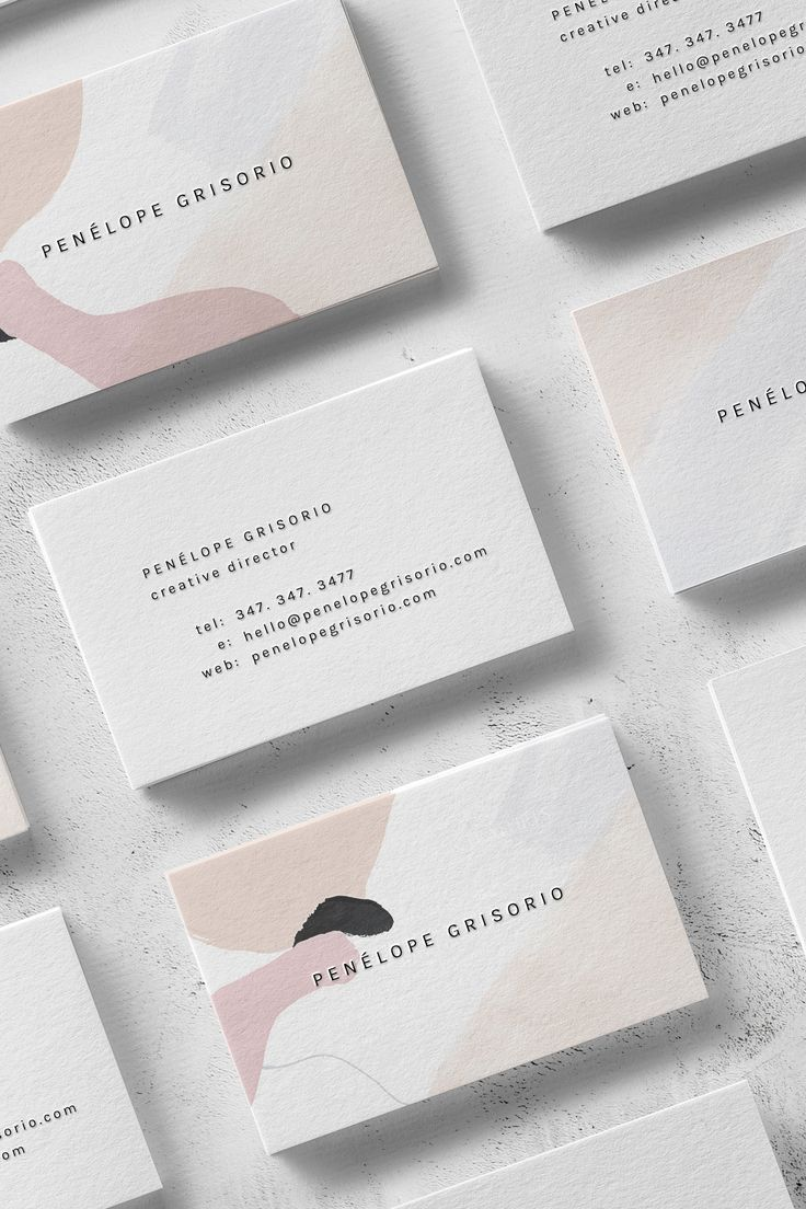 Penélope A Modern and Minimal Business Card Design for