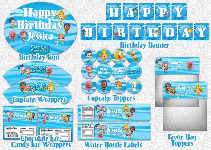 Bubble Guppies Party Printable Package. $16.00, via Etsy.